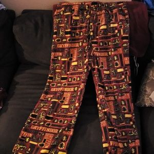 NEW Harry Potter Gryffindor lounge pants XXL